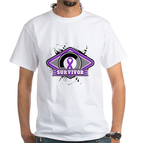 Pancreatic Cancer Survivor White T-Shirt