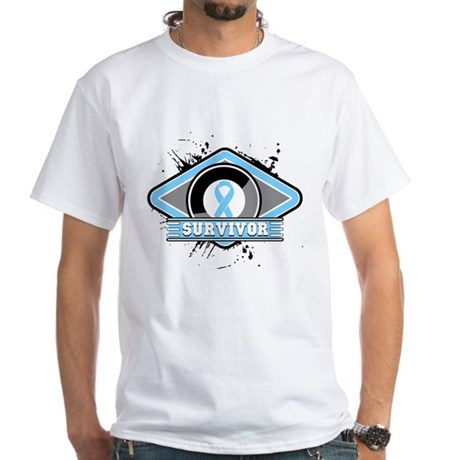 Prostate Cancer Survivor White T-Shirt