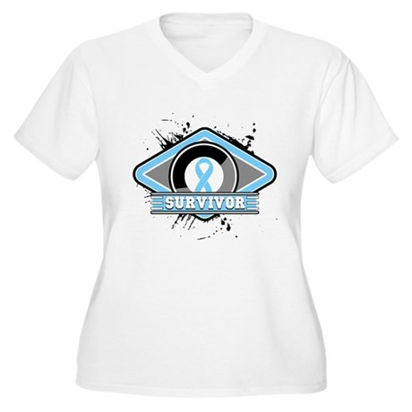 Prostate Cancer Survivor Women's Plus Size V-Neck