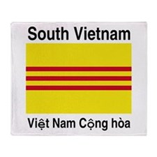 Funny South vietnam Throw Blanket