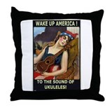 Wake Up America! Throw Pillow