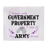 Tamper W Gov Property A Girlfriend Throw Blanket