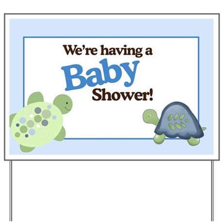 baby shower gifts baby shower yard signs turtle reef baby shower yard