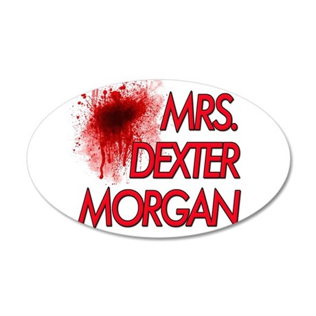 Mrs. Dexter Morgan 38.5 x 24.5 Oval Wall Peel