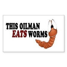 Eats Worms Decal