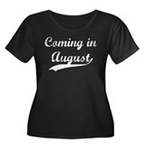 Coming in August Women's Plus Size Scoop Neck Dark