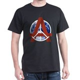 Peace Through Anarchy Earth Black T-Shirt