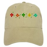 Rainbow Flowers on Baseball Hat