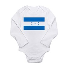 Honduran Flag Long Sleeve Infant Bodysuit
