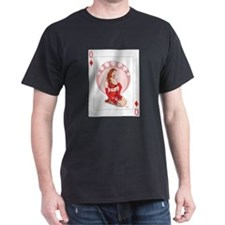 Queen of Diamonds Pin-up T-Shirt