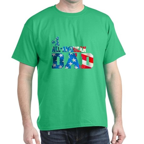 #1 ALL-AMERICAN DAD Dark T-Shirt