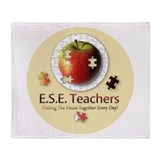ESE Teachers (Autism) Throw Blanket