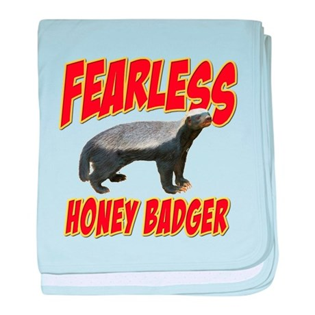 Fearless Honey Badger baby blanket