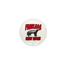 Fearless Honey Badger Mini Button (10 pack)
