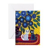 Cute Feline art Greeting Card