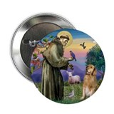 "St Francis Golden 2.25"" Button"