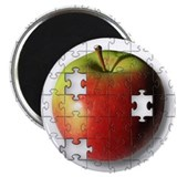 "Puzzle Apple (ESE Teacher) 2.25"" Magnet (10 p"