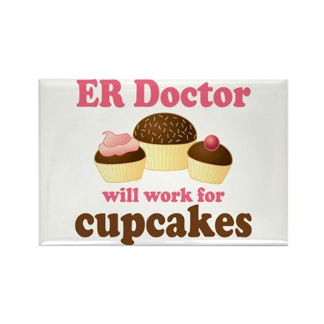 Funny ER doctor Rectangle Magnet