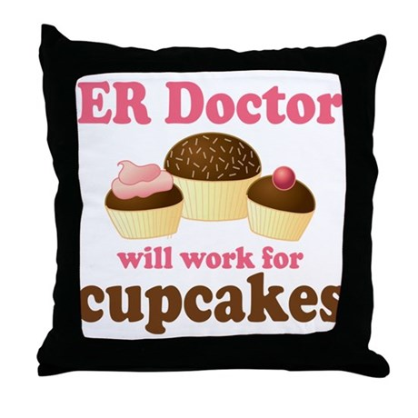 Funny ER doctor Throw Pillow