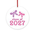 Class of 2027 Girls Graduation Ornament (Round)