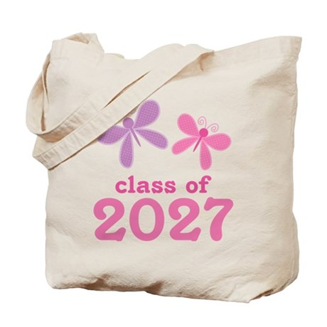 Class of 2027 Girls Graduation Tote Bag