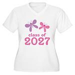 Class of 2027 Girls Graduation Women's Plus Size V