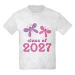 Class of 2027 Girls Graduation Kids Light T-Shirt