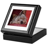 Cool Dog tired Keepsake Box