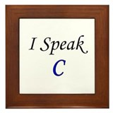 """I Speak C"" Framed Tile"