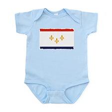 City of New Orleans Flag Infant Bodysuit