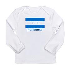 Honduran Flag (labeled) Long Sleeve Infant T-Shirt