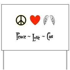 Peace - Love - Cas Yard Sign