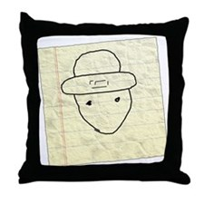 Funny Mobile leprechaun Throw Pillow