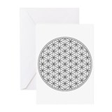 Greeting cards with Flower of Life (6x)