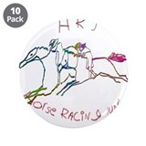 "HRJ - Horse Racing Junkie 3.5"" Button (10 pack)"