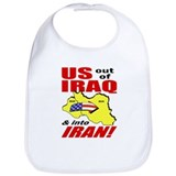 U.S. out, into IRAN! Bib
