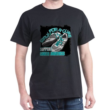 Ovarian Cancer Get Walking Dark T-Shirt