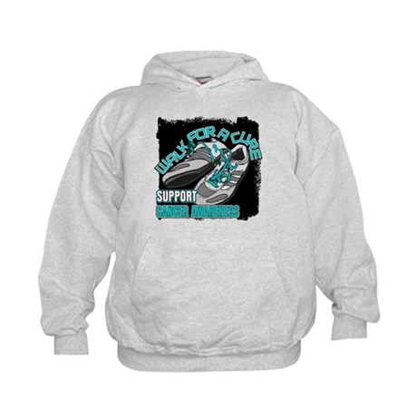 Ovarian Cancer Get Walking Kids Hoodie