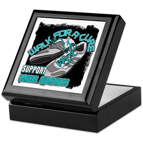 Ovarian Cancer Get Walking Keepsake Box