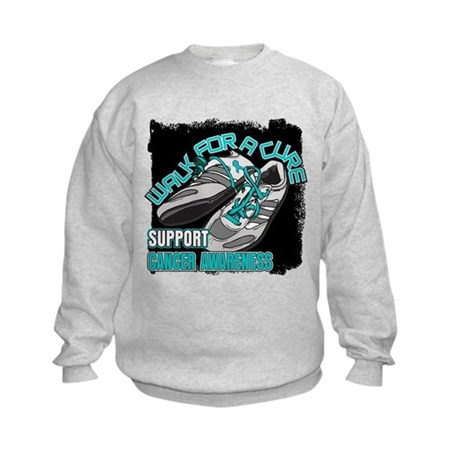 Ovarian Cancer Get Walking Kids Sweatshirt
