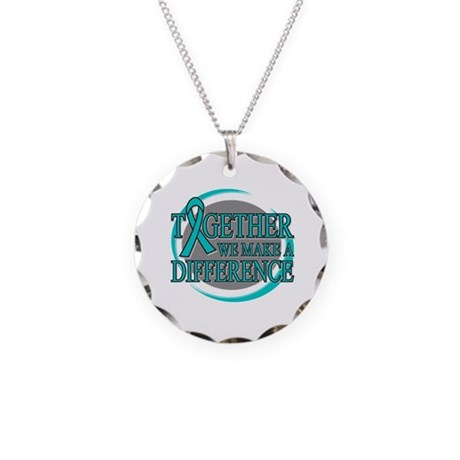 Ovarian Cancer Together Necklace Circle Charm