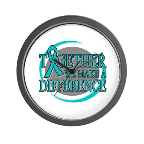 Ovarian Cancer Together Wall Clock