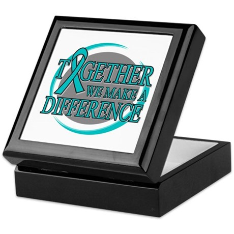 Ovarian Cancer Together Keepsake Box