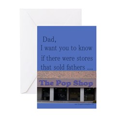 Funny Father's Day/Pop Shop Greeting Card