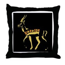 Gazelle (golden) Throw Pillow