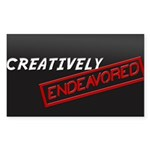 Creatively Endeavored Sticker (Rectangle 10 pk)