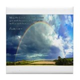 Psalm 128:5 Tile Coaster