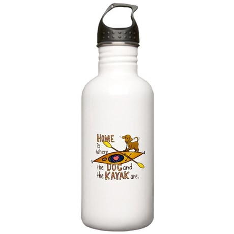 Dog and Kayak Stainless Water Bottle 1.0L