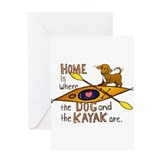 Dog and Kayak Greeting Card