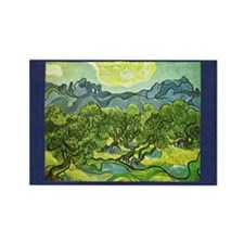 Van Gogh Olive Trees Rectangle Magnet